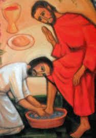 1 - washing feet